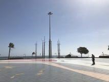 Los pocillos海滩Puerto del卡门 库存图片