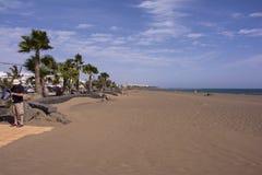 Los pocillos beach peurto de carmen lanzarote stock image