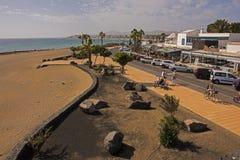 Los pocillos beach peurto del carmen兰萨罗特岛加那利群岛 库存图片