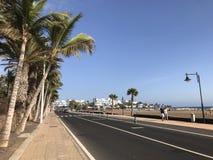 Los pocillos beach stock image