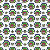 Los polígonos en un modelo inconsútil del fondo blanco wallpaper Imagen de archivo libre de regalías