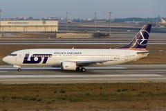 LOS - Polnische Fluglinien Stockbilder