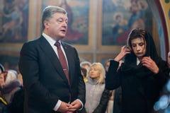 Los políticos ucranianos honran la memoria de los activistas matados de EuroMaidan Imagen de archivo libre de regalías
