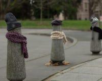 Los posts se vistieron correctamente para el invierno en Seattle, Washington 10 Foto de archivo