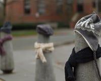 Los posts se vistieron correctamente para el invierno en Seattle, Washington 11 Fotografía de archivo libre de regalías