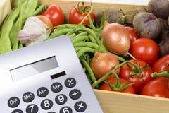 Los precios altos de verduras Imágenes de archivo libres de regalías