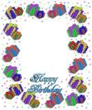 Los presentes de cumpleaños confinan la ilustración Fotos de archivo