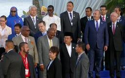 Los presidentes de delegaciones presentan para la fotografía oficial en la 17ma cumbre del movimiento no alineado Imágenes de archivo libres de regalías
