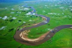 Los primeros nueve del río amarillo Fotografía de archivo libre de regalías