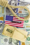 Los problemas en la economía de los E.E.U.U. Imágenes de archivo libres de regalías