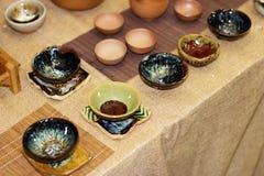 Los productos de cerámica Fotografía de archivo libre de regalías