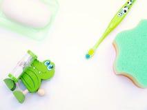 Los productos de los niños para lavarse Imagenes de archivo