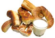 Los productos más varios de la panadería - criados Foto de archivo libre de regalías
