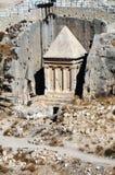 Los profetas vengan la tumba de Zechariah Fotos de archivo libres de regalías