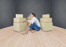 Los propietarios de negocio tienen dolores de cabeza debido a problemas del producto imagen de archivo libre de regalías