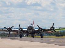 Los propulsores del bombardero B17 Imagen de archivo