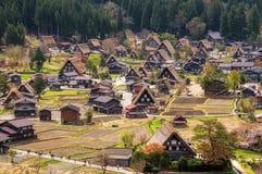 Los pueblos históricos de Shirakawago Foto de archivo libre de regalías