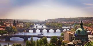 Los puentes crepusculares Fotos de archivo