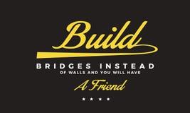 Los puentes de la estructura en vez de las paredes y de usted tendrán un amigo stock de ilustración