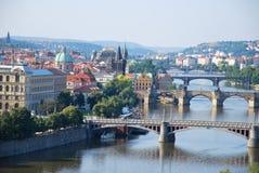 Los puentes de Praga Imagen de archivo