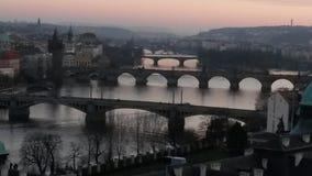 Los puentes de Praque foto de archivo libre de regalías