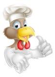 Los pulgares suben al cocinero del pollo Imagen de archivo
