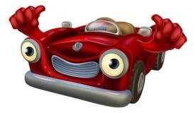 Los pulgares suben el coche de la historieta Foto de archivo libre de regalías
