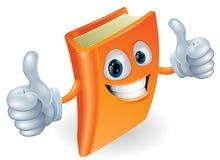 Los pulgares suben el personaje de dibujos animados del libro Fotos de archivo