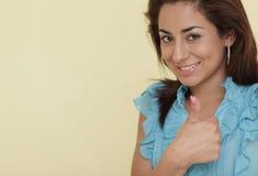 Los pulgares suben gesto Foto de archivo libre de regalías