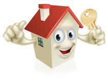 Los pulgares suben la casa con llave Fotografía de archivo libre de regalías