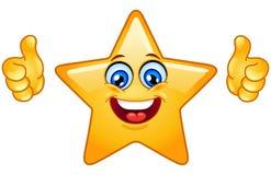 Los pulgares suben la estrella Fotografía de archivo