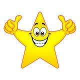 Los pulgares suben la estrella Fotos de archivo libres de regalías