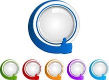 Los pulgares suben los botones Fotos de archivo libres de regalías