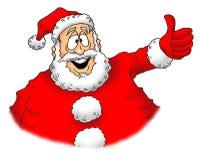 Los pulgares suben Santa Fotografía de archivo libre de regalías