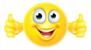 Los pulgares suben smiley del emoji Imagen de archivo