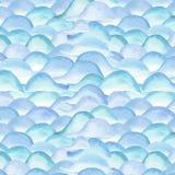 Los puntos azules del verano brillante transparente maravilloso blando artístico hermoso abstracto modelan el ejemplo de la mano  Imagenes de archivo