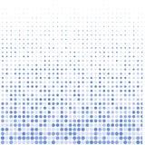 Los puntos azules en blanco ilustración del vector