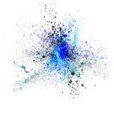 Los puntos coloreados, salpican, elemento del vector del grunge Fotos de archivo