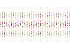 Los puntos coloridos abstractos modelan el estilo de semitono en el fondo blanco stock de ilustración