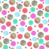 Los puntos coloridos del modelo inconsútil pintaron pensils del color ilustración del vector