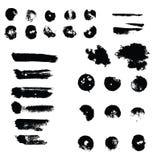 Los puntos de la pintura, movimientos del cepillo, fondo sucio Fotografía de archivo libre de regalías