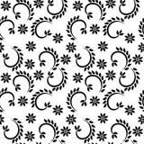 Los puntos decorativos y el modelo repetido geométrico floral diseñan Imagen de archivo libre de regalías