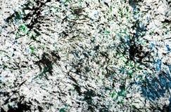 Los puntos negros verde oscuro blancos ponen en contraste el fondo de pintura de la acuarela, acrílico de la acuarela que pinta e fotografía de archivo libre de regalías
