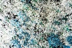 Los puntos negros verdes azul marino blancos ponen en contraste el fondo de pintura de la acuarela, acrílico de la acuarela que p imagenes de archivo