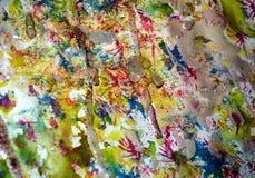 Los puntos rojos del oro azul en colores pastel de la acuarela, contraste forman el fondo en tonalidades en colores pastel Imagenes de archivo