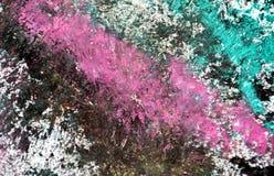 Los puntos verde oscuro blancos púrpuras ponen en contraste el fondo de pintura de la acuarela, acrílico de la acuarela que pinta foto de archivo