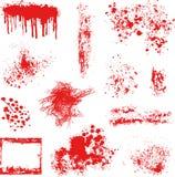 Los puntos y el otro vector de los elementos del grunge Fotografía de archivo libre de regalías