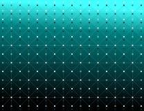 Los puntos y las líneas color blanco con la sombra texturizan el modelo sobre fondo del verde de la pendiente Vector la ilustraci Fotos de archivo