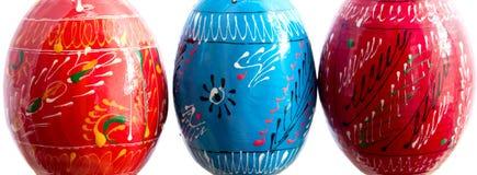 Los pysankas o los huevos de Pascua se cierran para arriba Imagenes de archivo