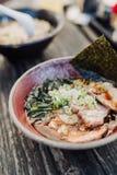 Los Ramen con miso basaron la sopa Fotografía de archivo